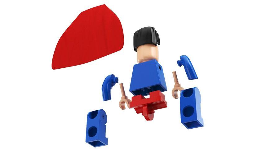 LEGO Super Man royalty-free 3d model - Preview no. 10