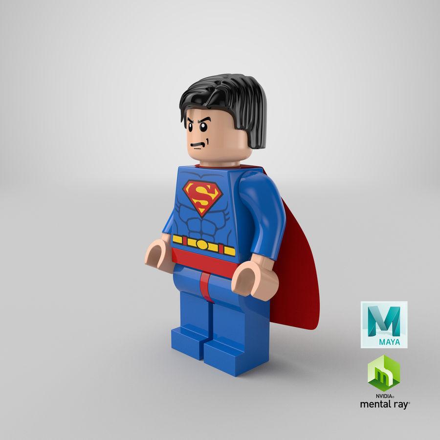 LEGO Super Man royalty-free 3d model - Preview no. 20