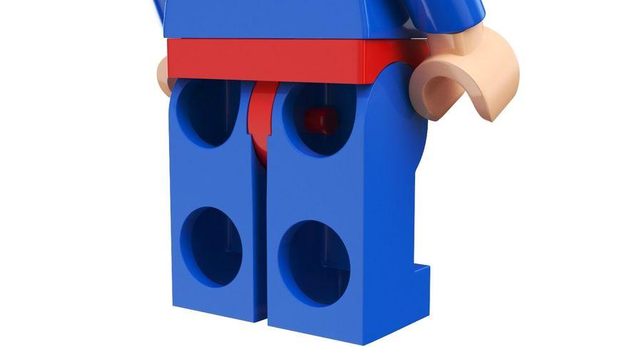 LEGO Super Man royalty-free 3d model - Preview no. 7