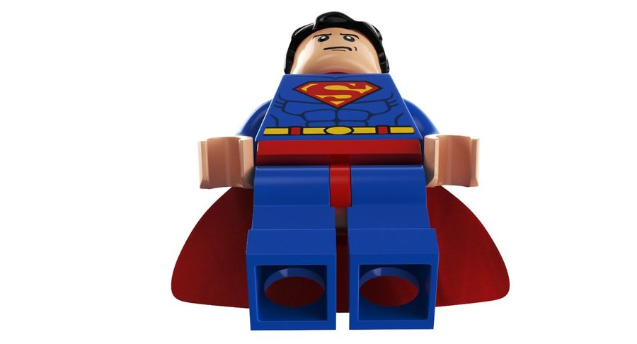 LEGO Super Man royalty-free 3d model - Preview no. 6