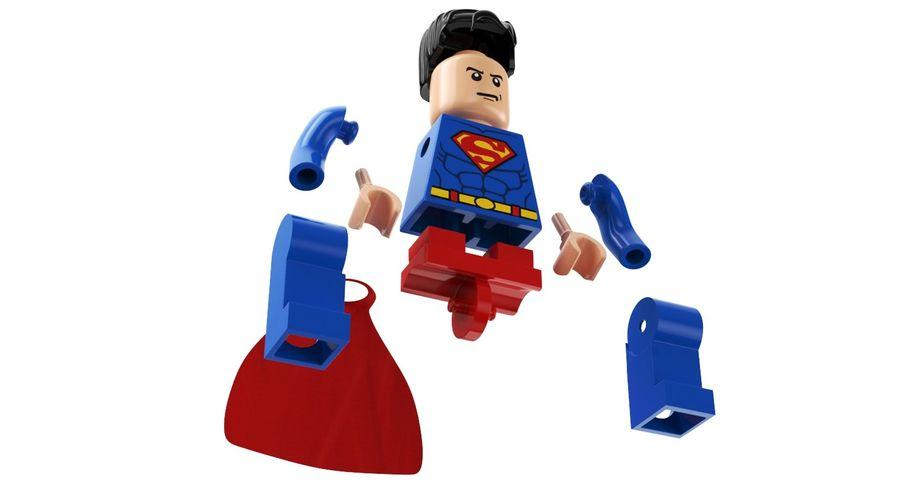 LEGO Super Man royalty-free 3d model - Preview no. 9