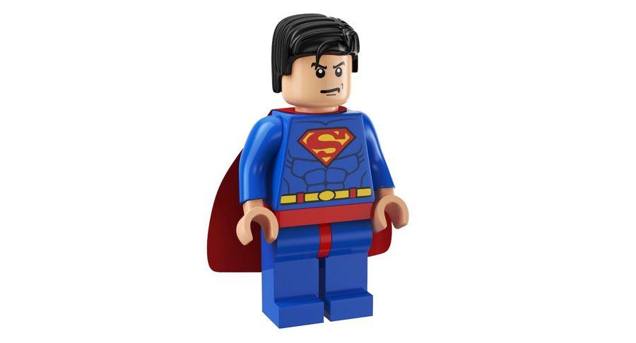 LEGO Super Man royalty-free 3d model - Preview no. 2