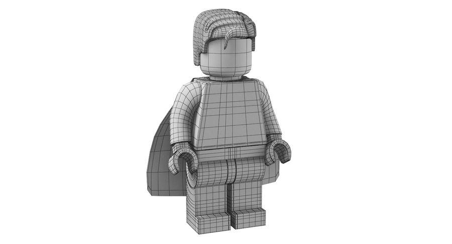 LEGO Super Man royalty-free 3d model - Preview no. 12