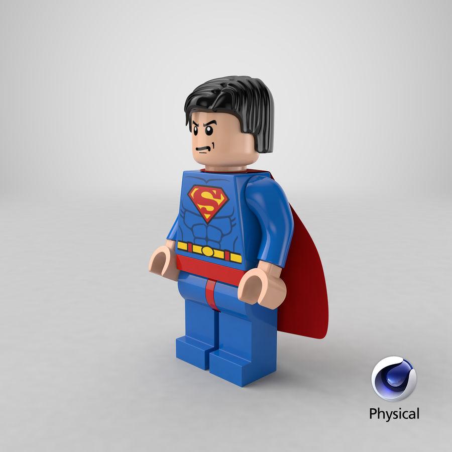LEGO Super Man royalty-free 3d model - Preview no. 23