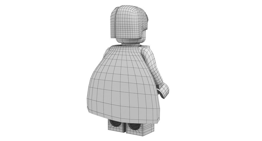 LEGO Super Man royalty-free 3d model - Preview no. 14