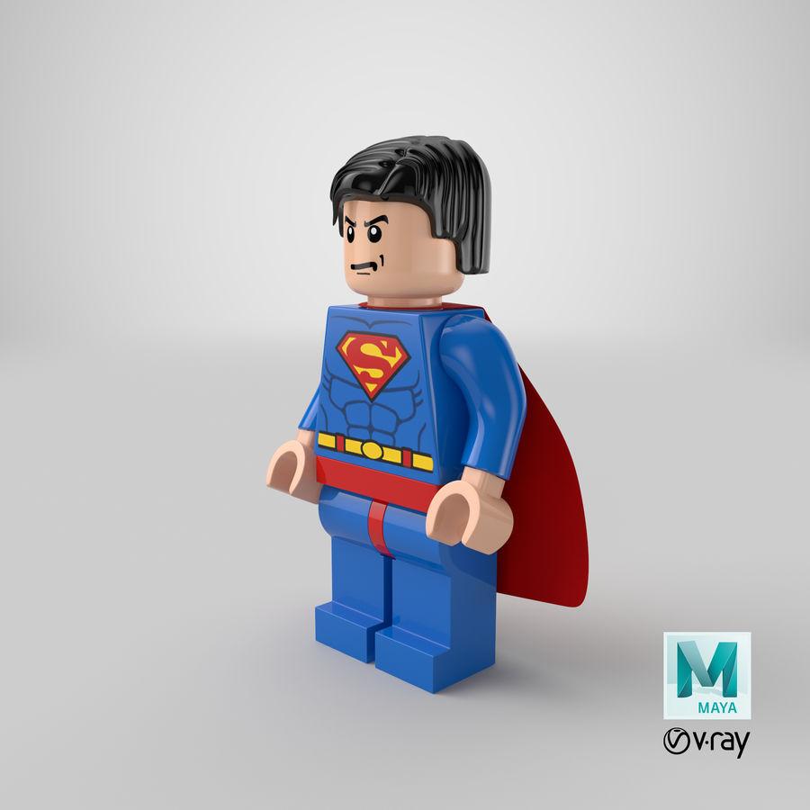 LEGO Super Man royalty-free 3d model - Preview no. 19