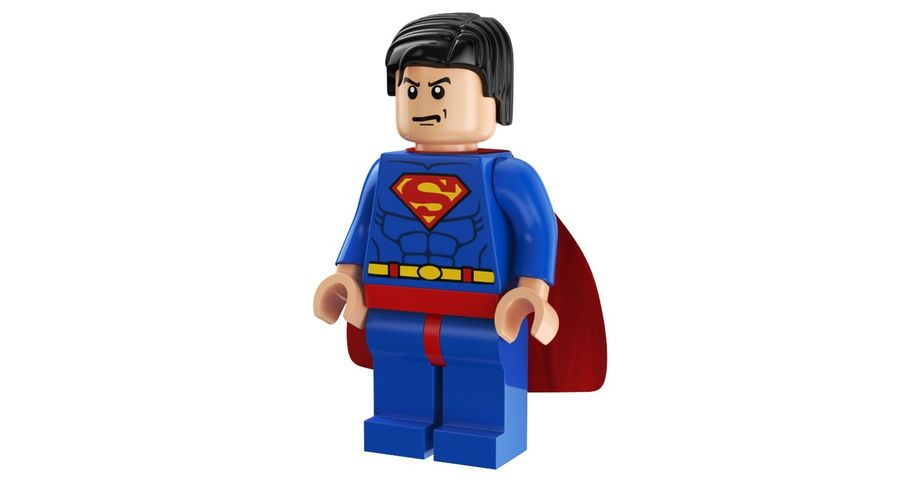 LEGO Super Man royalty-free 3d model - Preview no. 5