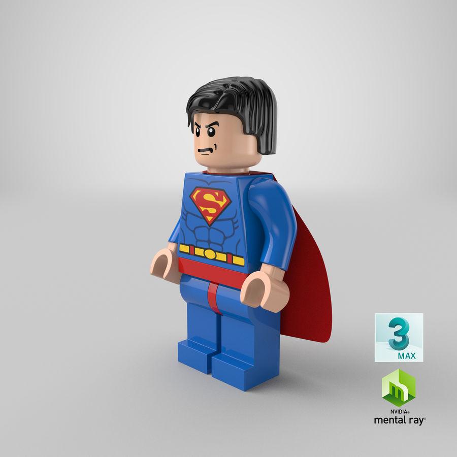 LEGO Super Man royalty-free 3d model - Preview no. 22