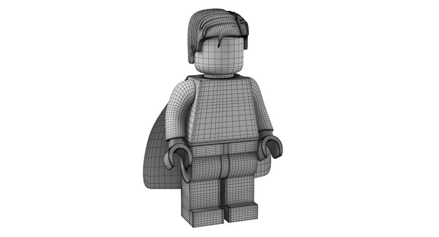LEGO Super Man royalty-free 3d model - Preview no. 13