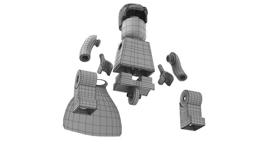 LEGO Super Man royalty-free 3d model - Preview no. 16