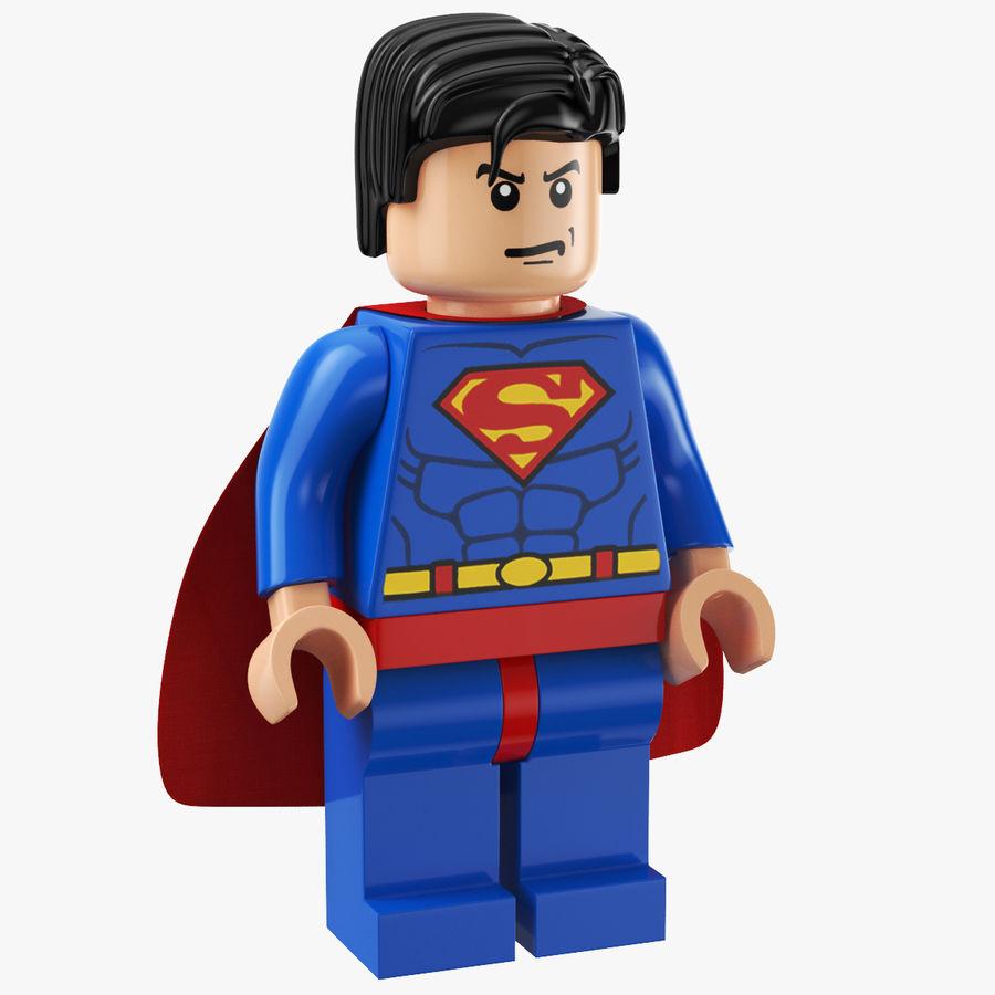 LEGO Super Man royalty-free 3d model - Preview no. 1
