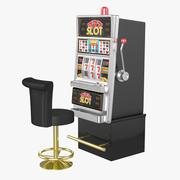 带椅老虎机(1) 3d model
