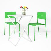 宜家veddo桌椅和宜家花瓶 3d model