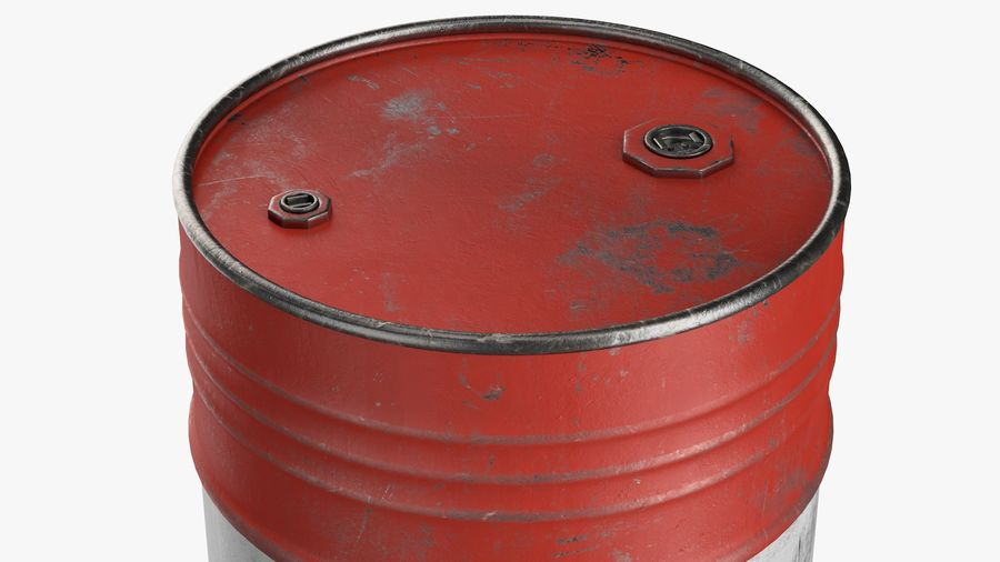 Steel Barrel with Pallet 02 royalty-free 3d model - Preview no. 3