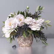 Стильная ваза для цветов 3d model