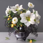 Elegant Flowers-Fruit Vase 3d model
