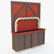 Gabinete de la cerveza modelo 3d
