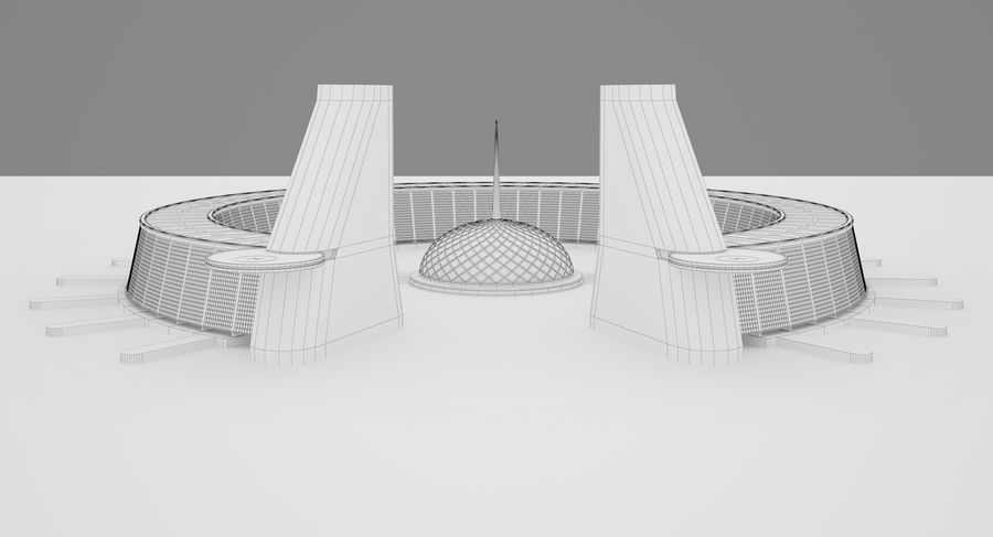 Sci-Fi Building royalty-free 3d model - Preview no. 12