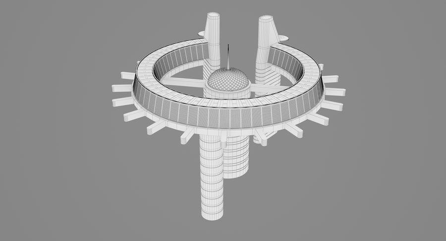Sci-Fi Building royalty-free 3d model - Preview no. 15