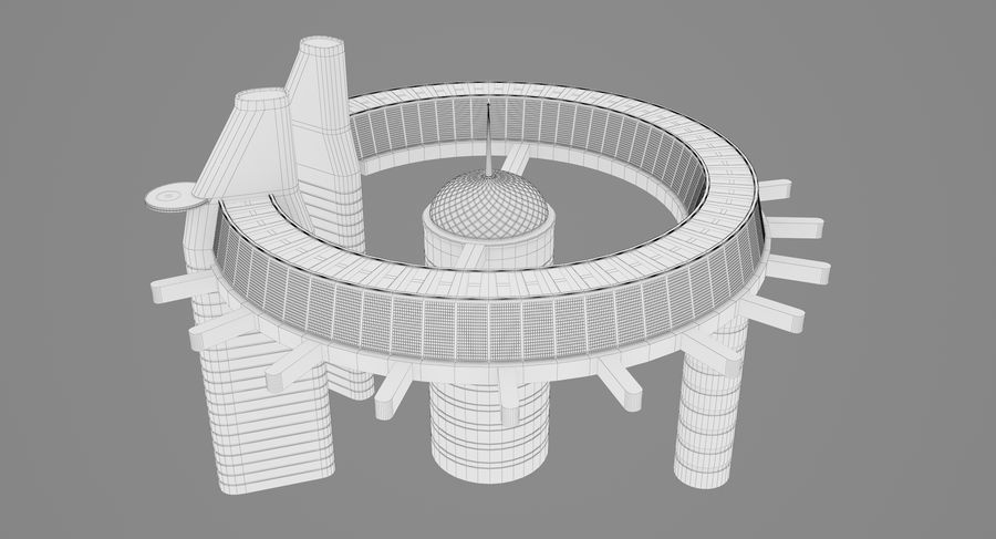 Sci-Fi Building royalty-free 3d model - Preview no. 16