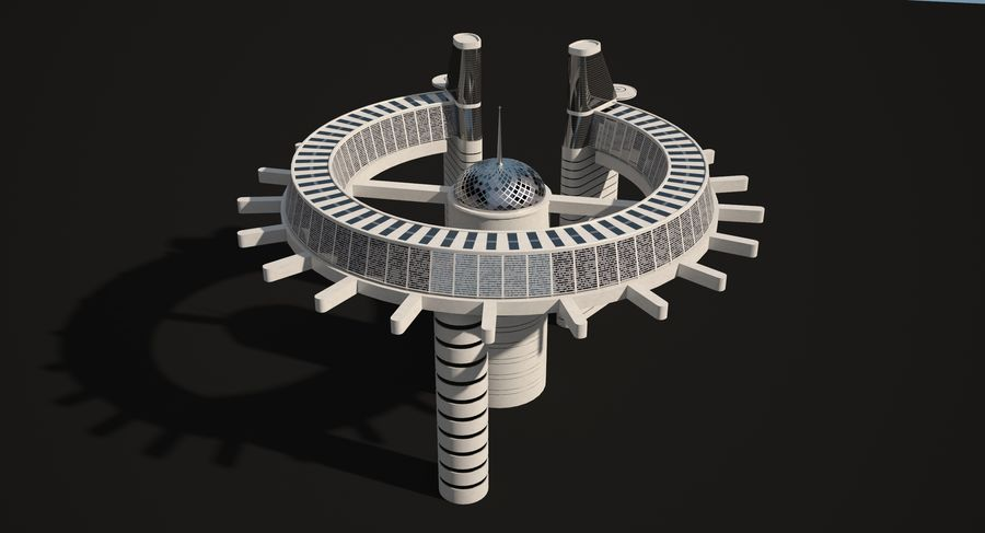 Sci-Fi Building royalty-free 3d model - Preview no. 9