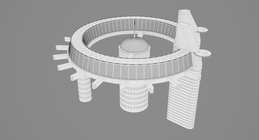 Sci-Fi Building royalty-free 3d model - Preview no. 14