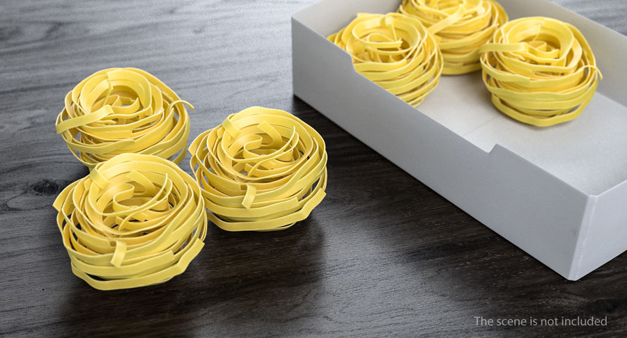 Spaghetti Nest royalty-free 3d model - Preview no. 3