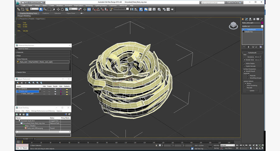 Spaghetti Nest royalty-free 3d model - Preview no. 12