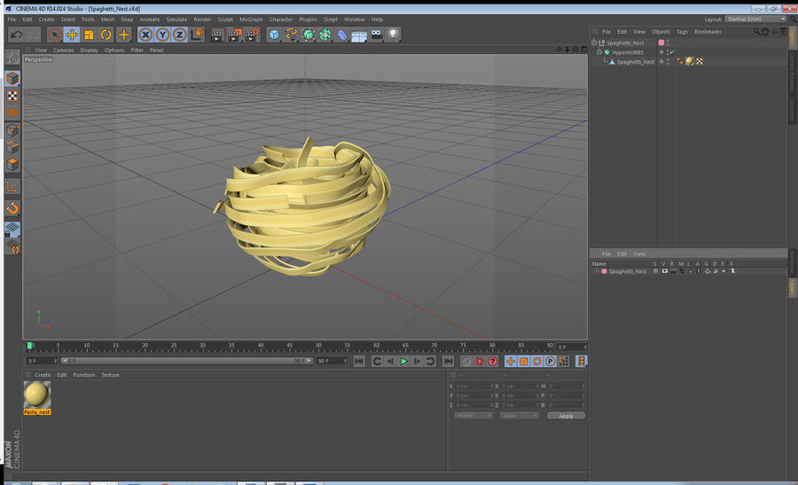 Spaghetti Nest royalty-free 3d model - Preview no. 11