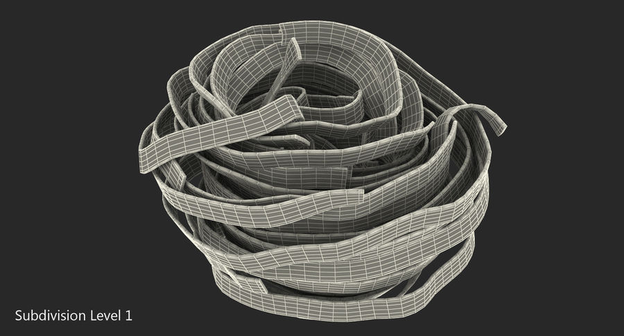 Spaghetti Nest royalty-free 3d model - Preview no. 7