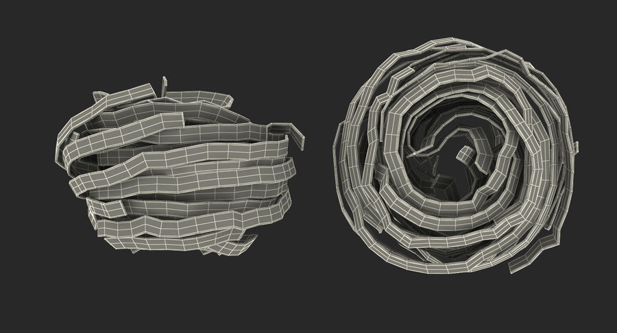Spaghetti Nest royalty-free 3d model - Preview no. 14
