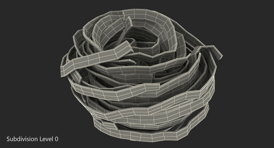 Spaghetti Nest royalty-free 3d model - Preview no. 6