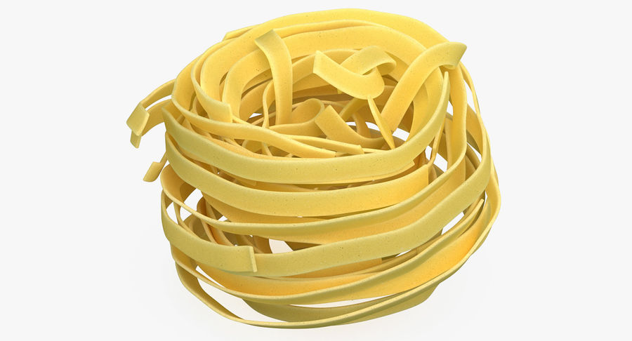 Uncooked Pasta Nest 3D Model royalty-free 3d model - Preview no. 2