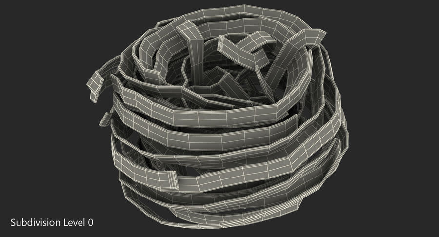 Uncooked Pasta Nest 3D Model royalty-free 3d model - Preview no. 6