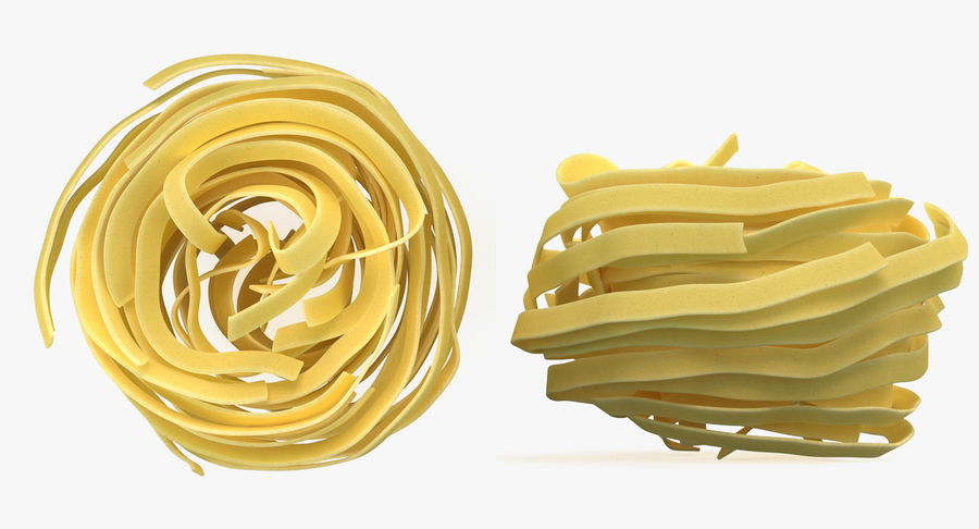 Uncooked Pasta Nest 3D Model royalty-free 3d model - Preview no. 5