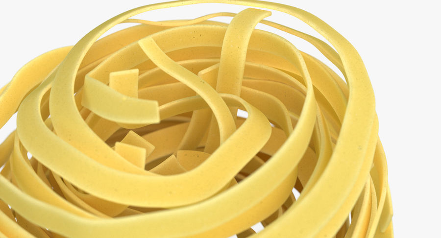 Uncooked Pasta Nest 3D Model royalty-free 3d model - Preview no. 4