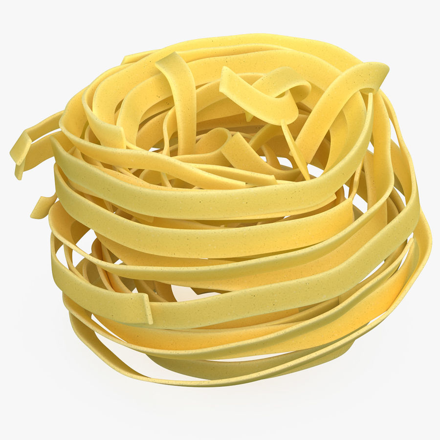 Uncooked Pasta Nest 3D Model royalty-free 3d model - Preview no. 1