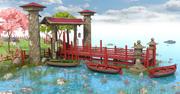Asian Dock 3d model