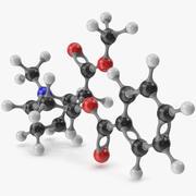 Cocaine Molecular Model 3d model