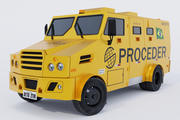 Bank Armored Car 3d model