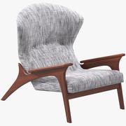 Adrian Pearsall 라운지 의자 3d model