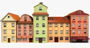 European Style Buildings 3d model