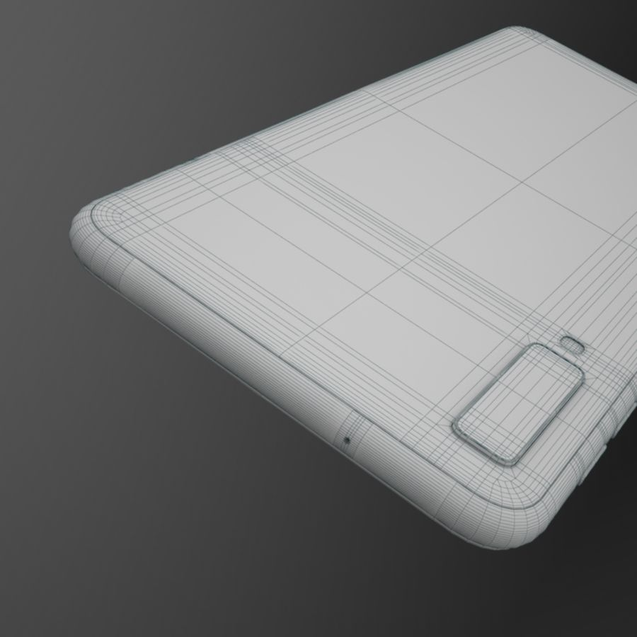 Samsung Galaxy A7 2018 royalty-free 3d model - Preview no. 17