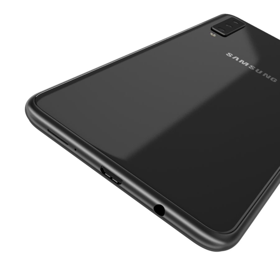 Samsung Galaxy A7 2018 royalty-free 3d model - Preview no. 7