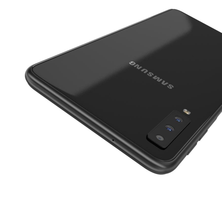 Samsung Galaxy A7 2018 royalty-free 3d model - Preview no. 8