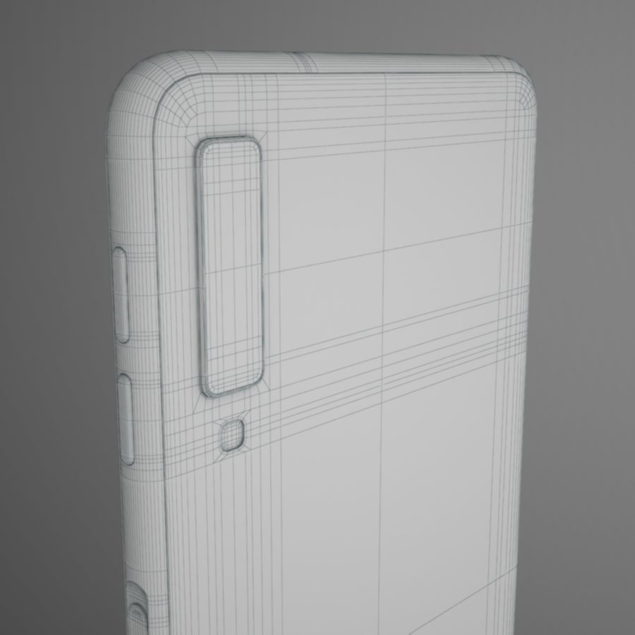 Samsung Galaxy A7 2018 royalty-free 3d model - Preview no. 13