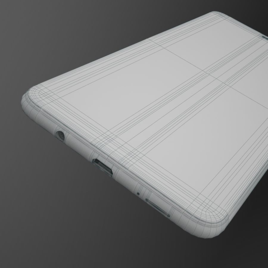 Samsung Galaxy A7 2018 royalty-free 3d model - Preview no. 15