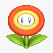 Fire Flower Super Mario Assets 3d model