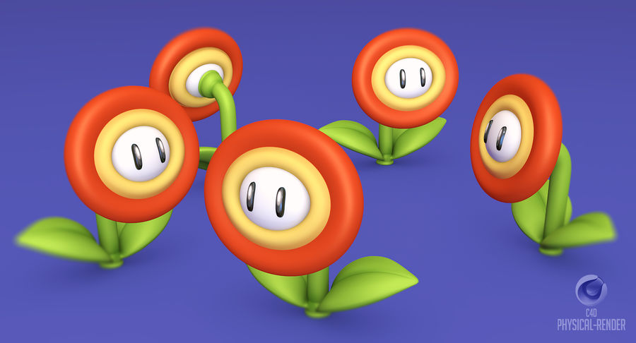 Fire Mario Super Mario Assets royalty-free 3d model - Preview no. 11