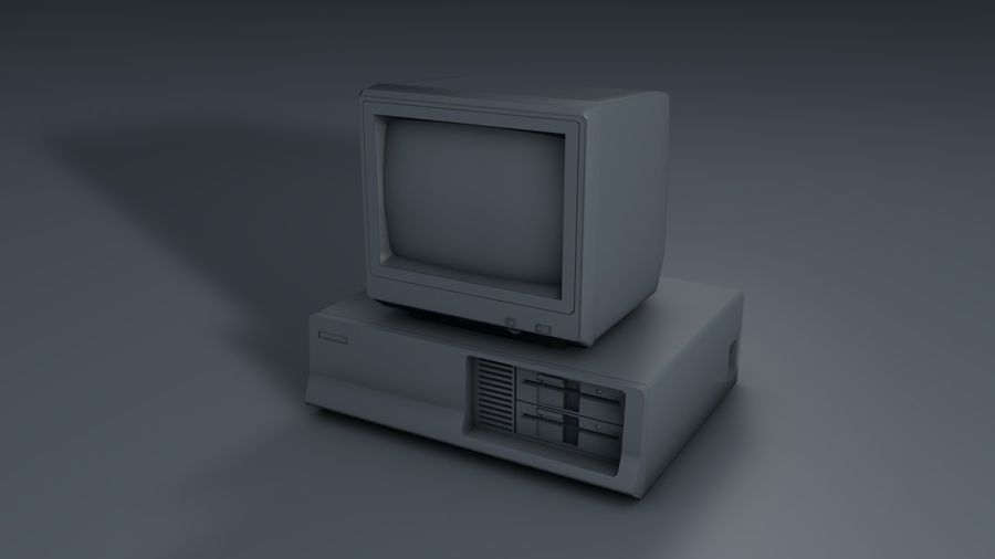 Gammal PC-dator royalty-free 3d model - Preview no. 6